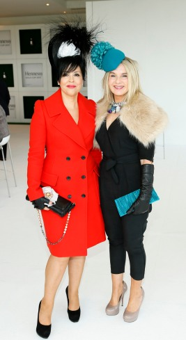 Elaine Bennett Toolan and Marion Cunningham at the Hennessy Gold