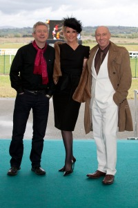 Judges Louis Walsh, Lisa Fitzpatrick with sponsor Ian Galvin of Aurora Fashions