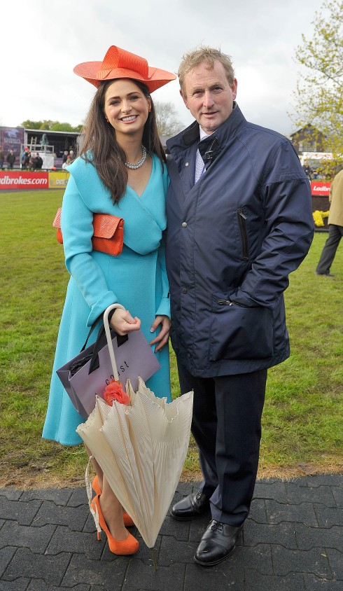 Maria Osborne winner of the thrid day in the Coast Best Dressed Lady competition with Enda Kenny