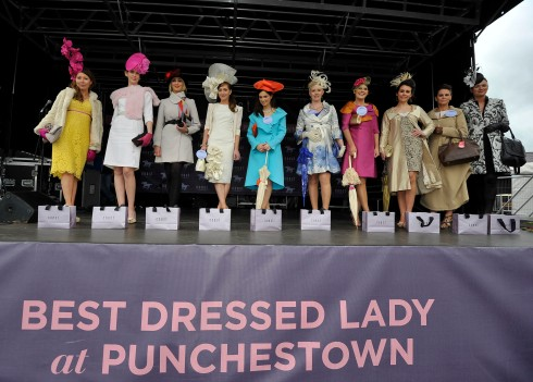 The finalists at the third day of the Punchestown Racing Coast Best Dressed