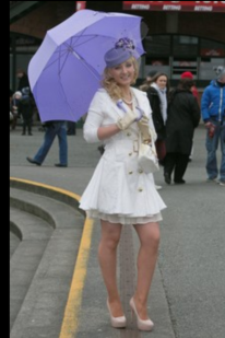 Ok so my outfit was 50's inspired but with a modern chic twist: headpiece was from Fortuna Dunshaughlin and was custom handmade, pillbox style with facial netting and also had velvet flowers! My umbrella and handbag were also Fortuna Dunshaughlin, I just don't think they can be beaten for their range in accessories style and colours!  My coat was from a vintage boutique in china. I fell in love when I saw it. The style was just so effortlessly different to your average coats available here, its was a spring coat/dress, exactly what I wanted as a heavy winter coat doesn't look fashionably appropriate in the spring, even though it was freezing!  My shoes, an online buy from boohoo.com were well prepared for their hard day, lined with every sort of party feet I could find and we were away! Brilliant buy, delivered to the door within 48hours and were great quality!