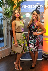 Roz Purcell and Rosanna Davison  at the Punchestown racing Festival launch
