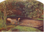 Imagine yourself as Millais' Ophelia when looking at winter florals.