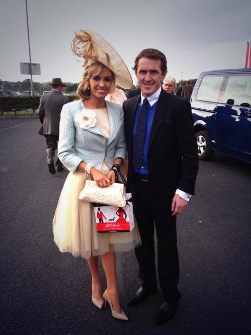 Pamela Richardson pictured with Champion Jockey AP McCoy at the 2013 Munster National.