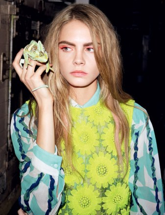 cara-delevingne-and-simone-rocha-spring-summer-2013-yellow-sheer-flower-dress-gallery
