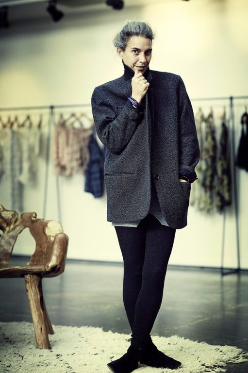Isabel Marant photographed in her Paris studio by Rannjan Joawn for the Observer.